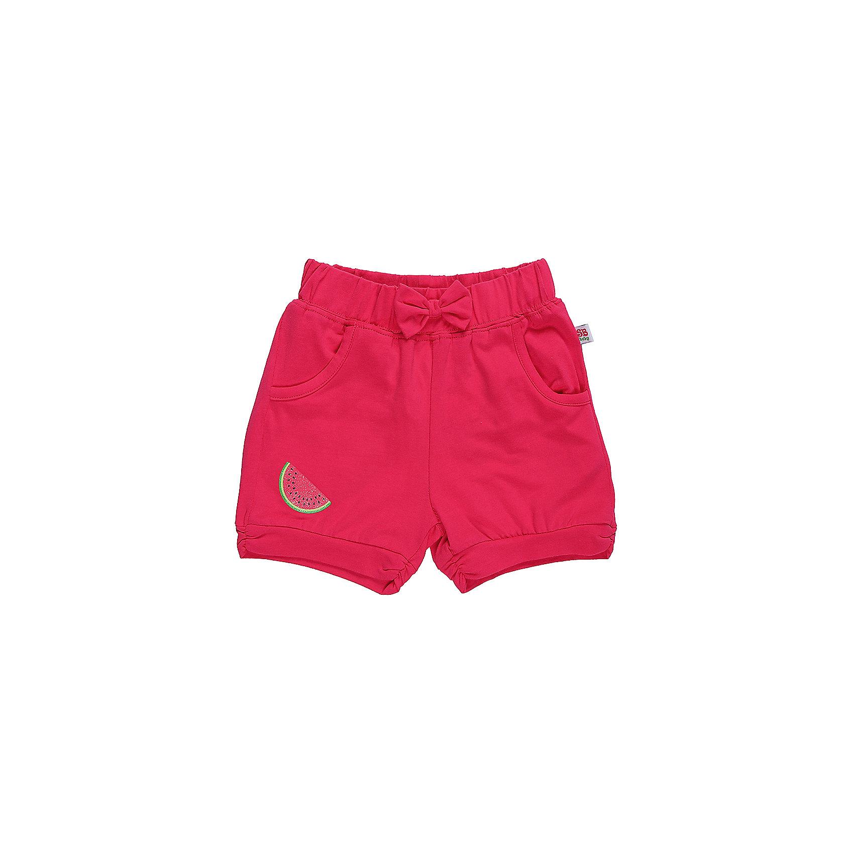 Шорты для девочки Sweet BerryЯркие трикотажные короткие шорты для девочки.  Спереди два   кармана. Низ брючины декорирован яркой аппликацией. Эластичный пояс.<br>Состав:<br>95%хлопок 5%эластан<br><br>Ширина мм: 191<br>Глубина мм: 10<br>Высота мм: 175<br>Вес г: 273<br>Цвет: фиолетовый<br>Возраст от месяцев: 12<br>Возраст до месяцев: 15<br>Пол: Женский<br>Возраст: Детский<br>Размер: 80,86,92,98<br>SKU: 5411348