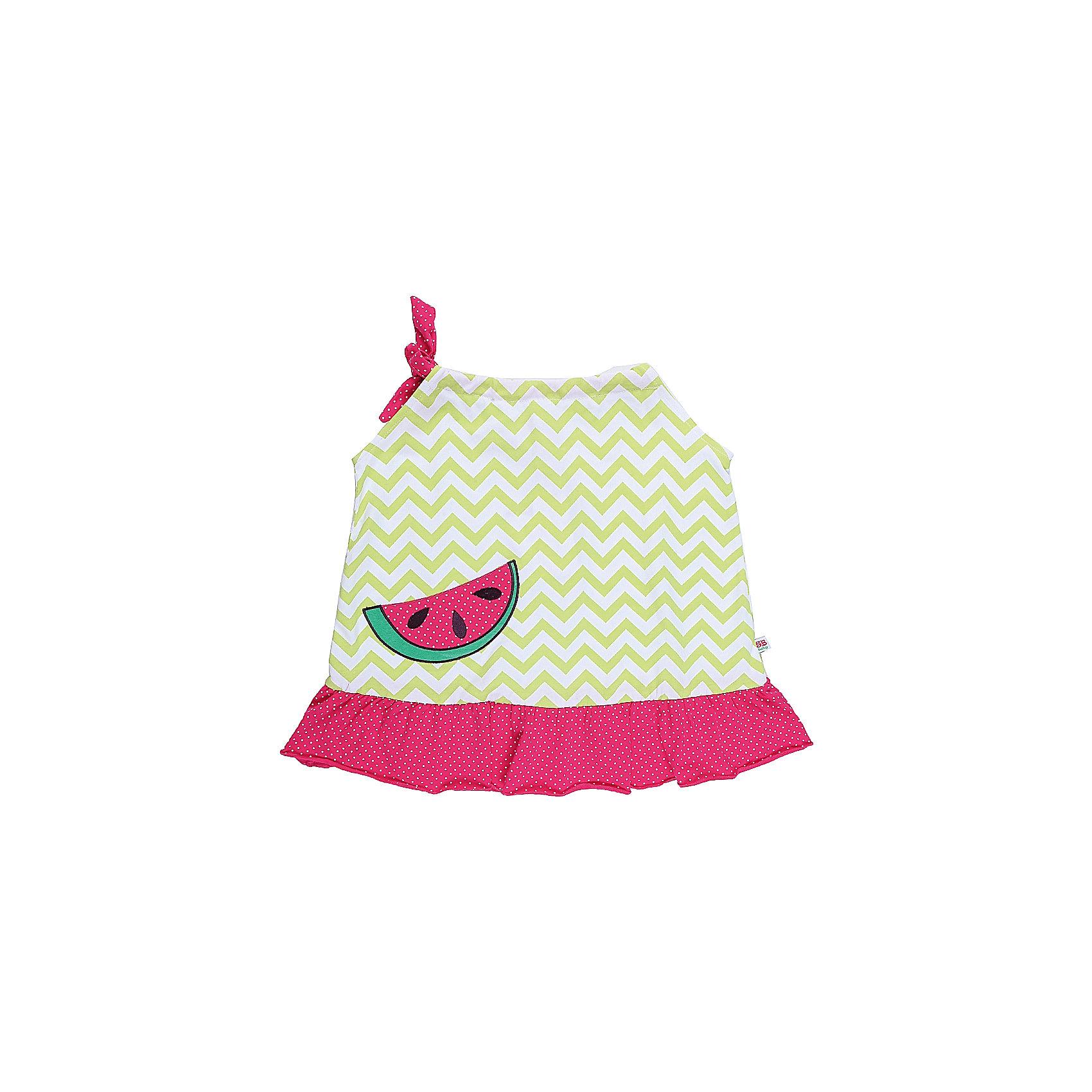 Платье для девочки Sweet BerryПлатья<br>Оригинальный сарафан для девочки из хлопковой ткани с яркой вышивкой и воланом по низу изделия.<br>Состав:<br>95%хлопок 5%эластан<br><br>Ширина мм: 236<br>Глубина мм: 16<br>Высота мм: 184<br>Вес г: 177<br>Цвет: разноцветный<br>Возраст от месяцев: 12<br>Возраст до месяцев: 15<br>Пол: Женский<br>Возраст: Детский<br>Размер: 80,86,92,98<br>SKU: 5411377