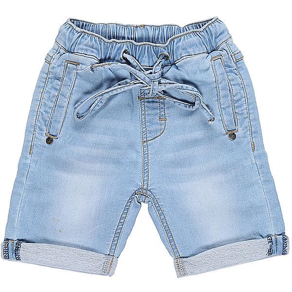 Шорты джинсовые для мальчика Sweet BerryШорты и бриджи<br>Мягкие, трикотажные шорты с отворотом, под Джинсу для мальчика. Спереди два прорезных кармана. Пояс-резинка дополнен шнуром для регулирования объема.<br>Состав:<br>95% хлопок, 5% эластан<br>Ширина мм: 191; Глубина мм: 10; Высота мм: 175; Вес г: 273; Цвет: голубой; Возраст от месяцев: 12; Возраст до месяцев: 18; Пол: Мужской; Возраст: Детский; Размер: 86,80,98,92; SKU: 5411430;