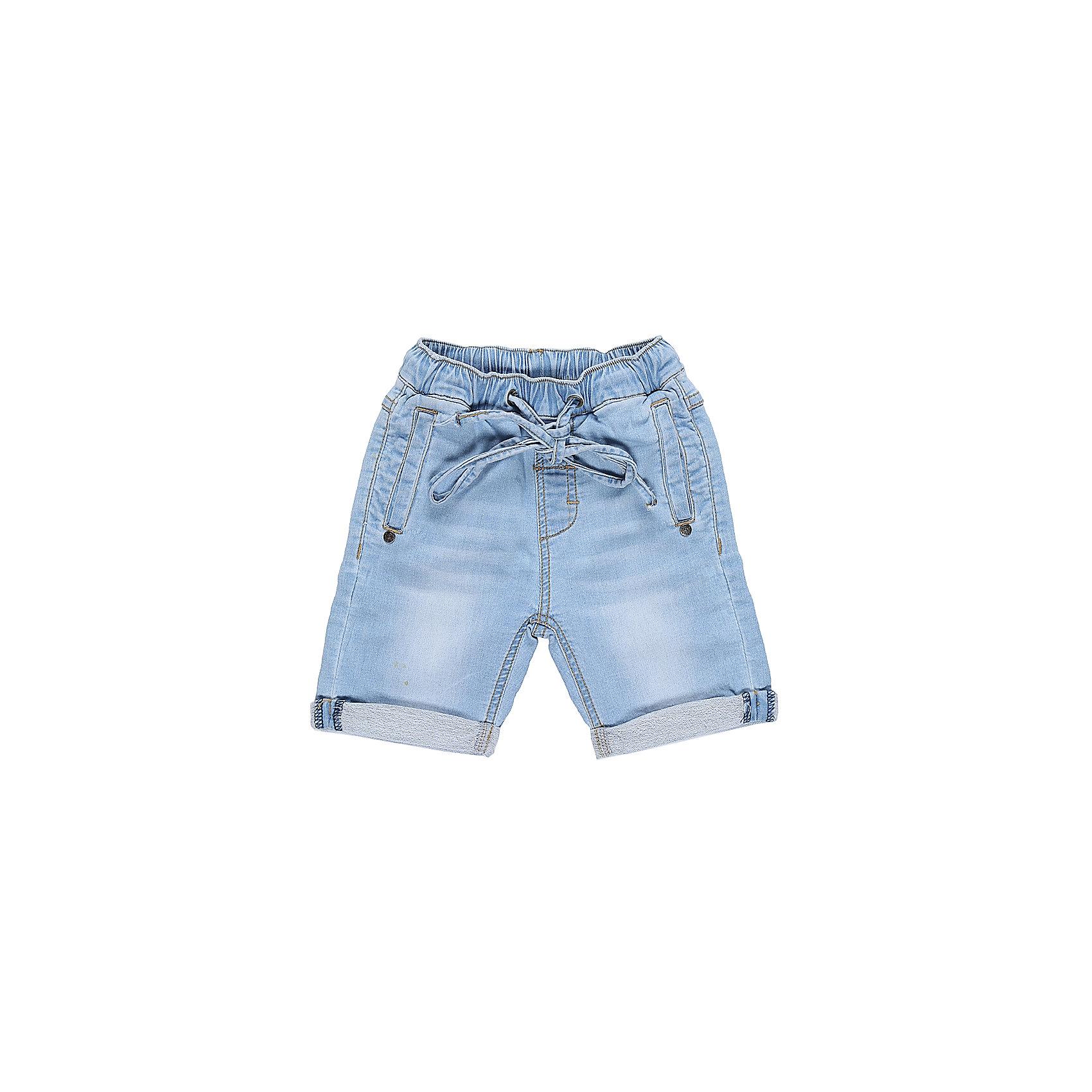 Шорты джинсовые для мальчика Sweet BerryДжинсовая одежда<br>Мягкие, трикотажные шорты с отворотом, под Джинсу для мальчика. Спереди два прорезных кармана. Пояс-резинка дополнен шнуром для регулирования объема.<br>Состав:<br>95% хлопок, 5% эластан<br><br>Ширина мм: 191<br>Глубина мм: 10<br>Высота мм: 175<br>Вес г: 273<br>Цвет: голубой<br>Возраст от месяцев: 12<br>Возраст до месяцев: 15<br>Пол: Мужской<br>Возраст: Детский<br>Размер: 80,86,92,98<br>SKU: 5411430