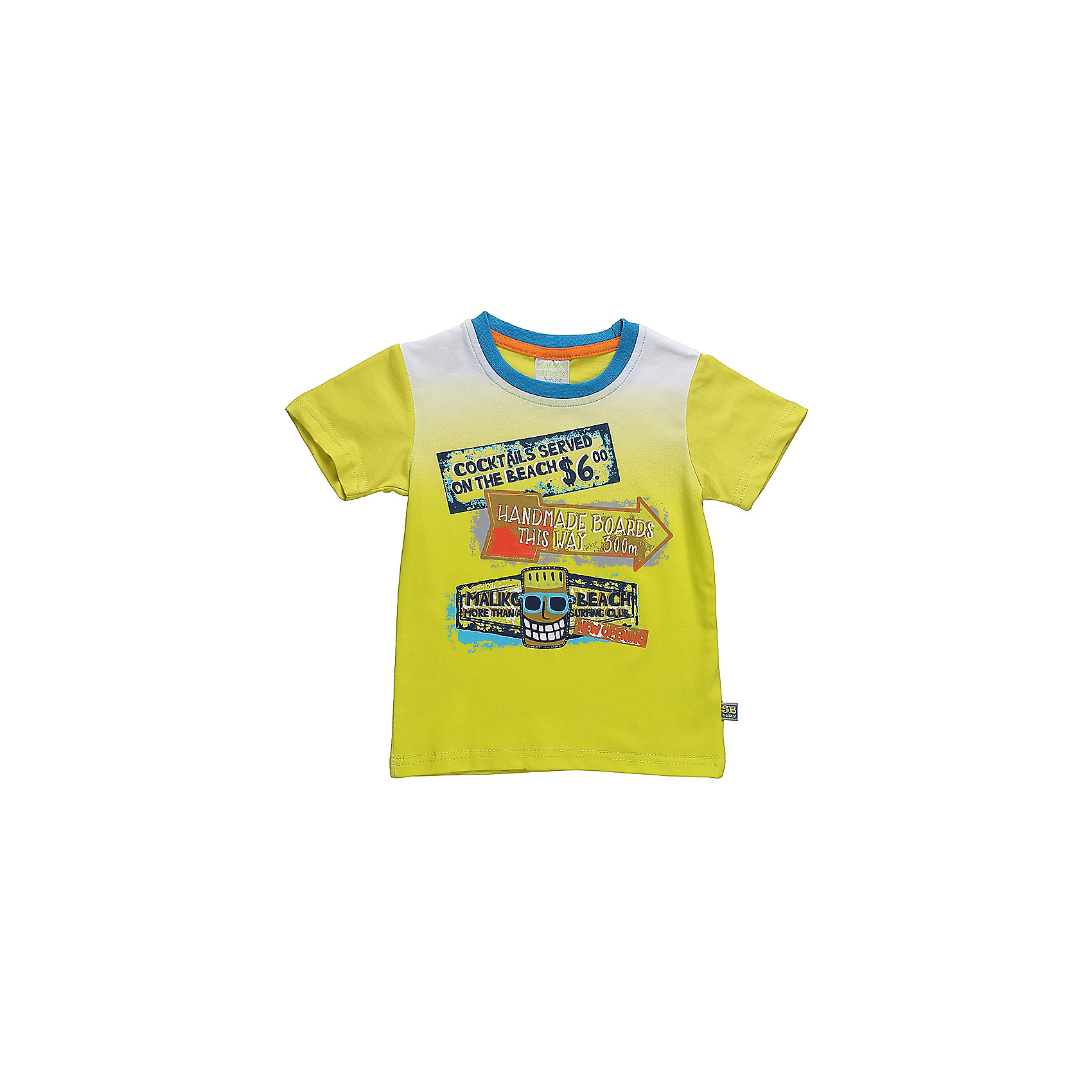 Футболка для мальчика Sweet BerryФутболки, топы<br>Стильная хлопковая футболка для мальчика с градиентом, декорирования ярким принтом. Горловина выполнена из контрастного голубого канта.<br>Состав:<br>95%хлопок 5%эластан<br><br>Ширина мм: 199<br>Глубина мм: 10<br>Высота мм: 161<br>Вес г: 151<br>Цвет: зеленый<br>Возраст от месяцев: 12<br>Возраст до месяцев: 18<br>Пол: Мужской<br>Возраст: Детский<br>Размер: 86,92,98,80<br>SKU: 5411467