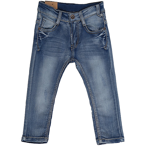 Джинсы для мальчика Sweet BerryДжинсовая одежда<br>Джинсы  для мальчика из хлопка, декорированы потертостями. Зауженный крой, средняя посадка. Застегиваются на молнию и крючок. Шлевки на поясе рассчитаны под ремень. В боковой части пояса находятся вшитые эластичные ленты, регулирующие посадку по талии.<br>Состав:<br>98%хлопок 2%эластан<br>Ширина мм: 215; Глубина мм: 88; Высота мм: 191; Вес г: 336; Цвет: синий; Возраст от месяцев: 12; Возраст до месяцев: 18; Пол: Мужской; Возраст: Детский; Размер: 86,80,98,92; SKU: 5411472;
