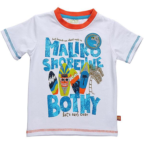 Футболка для мальчика Sweet BerryФутболки, поло и топы<br>Белая, хлопковая футболка для мальчика  с ярким принтом.  Модель имеет декоративную отстрочку цветной нитью. Горловина окантована контрастной оранжевой тканью.<br>Состав:<br>95%хлопок 5%эластан<br>Ширина мм: 199; Глубина мм: 10; Высота мм: 161; Вес г: 151; Цвет: белый; Возраст от месяцев: 12; Возраст до месяцев: 15; Пол: Мужской; Возраст: Детский; Размер: 80,86,98,92; SKU: 5411482;