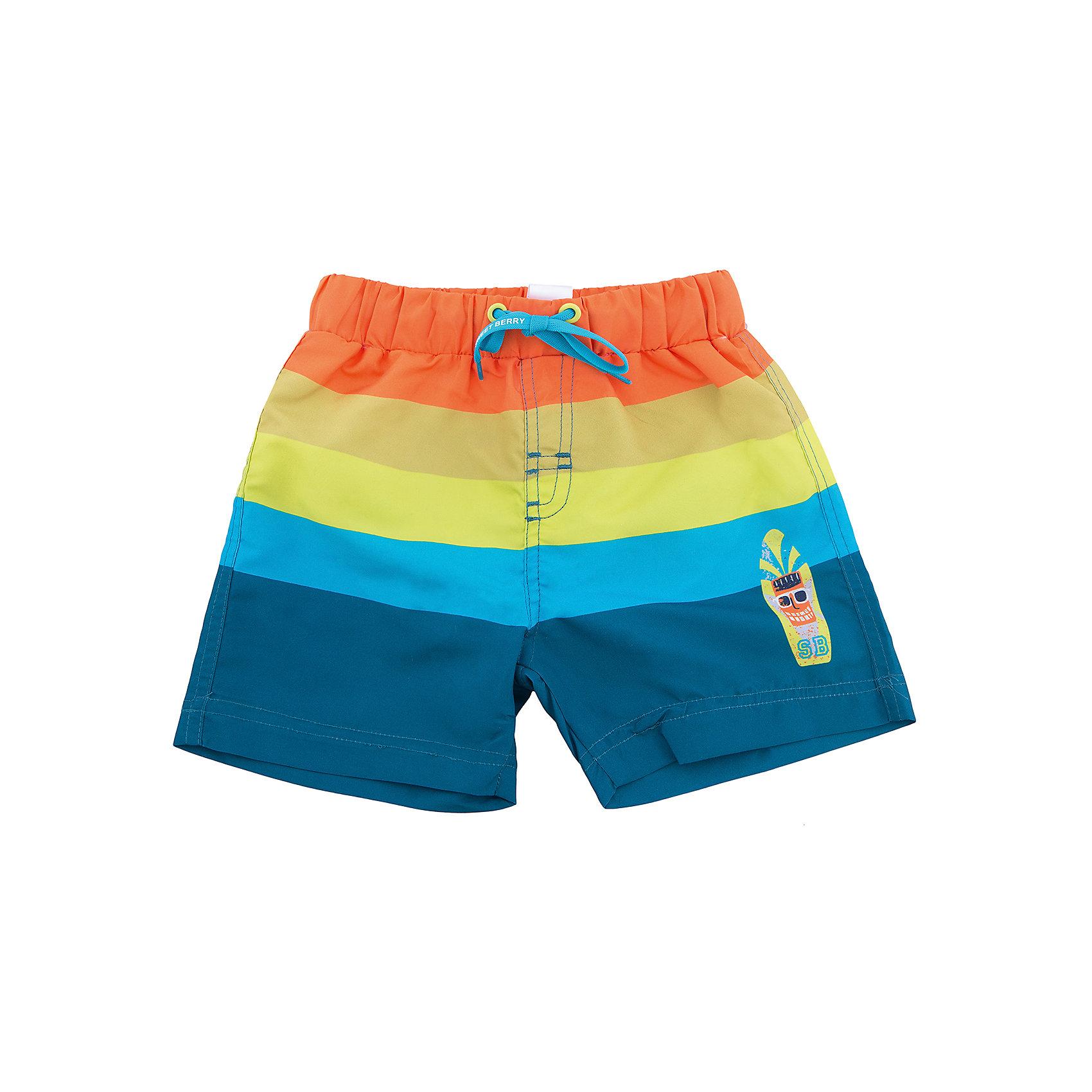 Шорты пляжные для мальчика Sweet BerryКупальные шорты для мальчика в яркую полоску выполнены из легкого быстросохнущего материала. Пояс-резинка дополнен шнуром для регулирования объема. Низ изделия декорирован аппликацией.<br>Состав:<br>100% полиэстер<br><br>Ширина мм: 191<br>Глубина мм: 10<br>Высота мм: 175<br>Вес г: 273<br>Цвет: разноцветный<br>Возраст от месяцев: 36<br>Возраст до месяцев: 48<br>Пол: Мужской<br>Возраст: Детский<br>Размер: 104,92,98,110,116,122<br>SKU: 5411487