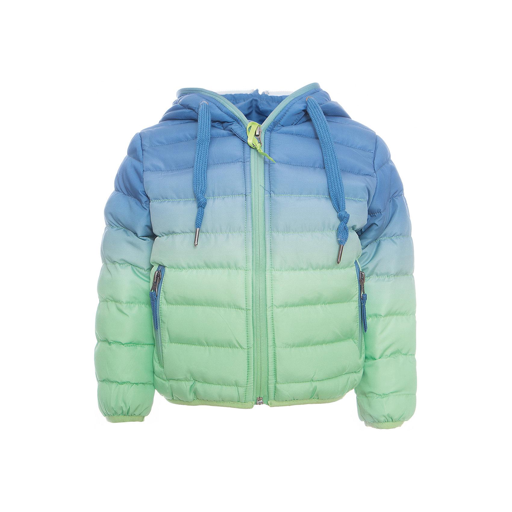 Куртка для мальчика Sweet BerryВерхняя одежда<br>Утепленная, стеганая куртка с градиентом для мальчика. Низ куртки и рукава декорированы контрастной резинкой. Капюшон с дополнительной утяжкой. Вертикальные карманы и куртка застегиваются на молнию. Комфортная температура эксплуатации от 0 до +10 С.<br>Состав:<br>Верх: 100%полиэстер. Подкладка: 65%хлопок 35%полиэстер. Наполнитель: 100%полиэстер<br><br>Ширина мм: 356<br>Глубина мм: 10<br>Высота мм: 245<br>Вес г: 519<br>Цвет: зеленый<br>Возраст от месяцев: 12<br>Возраст до месяцев: 15<br>Пол: Мужской<br>Возраст: Детский<br>Размер: 80,86,92,98<br>SKU: 5411546