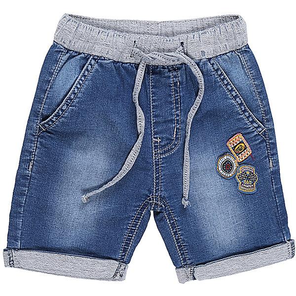 Бриджи джинсовые для мальчика Sweet BerryДжинсовая одежда<br>Мягкие трикотажные бриджи с отворотом, под Джинсу для мальчика. Спереди два прорезных кармана. Пояс-резинка дополнен шнуром для регулирования объема. Брючина декорирована аппликацией.<br>Состав:<br>98%хлопок 2%эластан<br>Ширина мм: 191; Глубина мм: 10; Высота мм: 175; Вес г: 273; Цвет: синий; Возраст от месяцев: 12; Возраст до месяцев: 15; Пол: Мужской; Возраст: Детский; Размер: 80,98,86,92; SKU: 5411551;