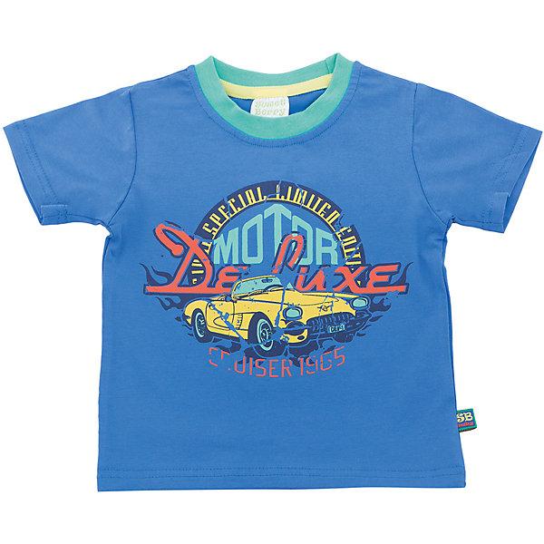 Футболка для мальчика Sweet BerryФутболки, топы<br>Стильная, хлопковая  футболка со стилизованным принтом выполненным в технике кракелюр(трещины).  Горловина окантована контрастным бирюзовым кантом.<br>Состав:<br>95%хлопок 5%эластан<br><br>Ширина мм: 199<br>Глубина мм: 10<br>Высота мм: 161<br>Вес г: 151<br>Цвет: синий<br>Возраст от месяцев: 12<br>Возраст до месяцев: 18<br>Пол: Мужской<br>Возраст: Детский<br>Размер: 92,98,86,80<br>SKU: 5411566