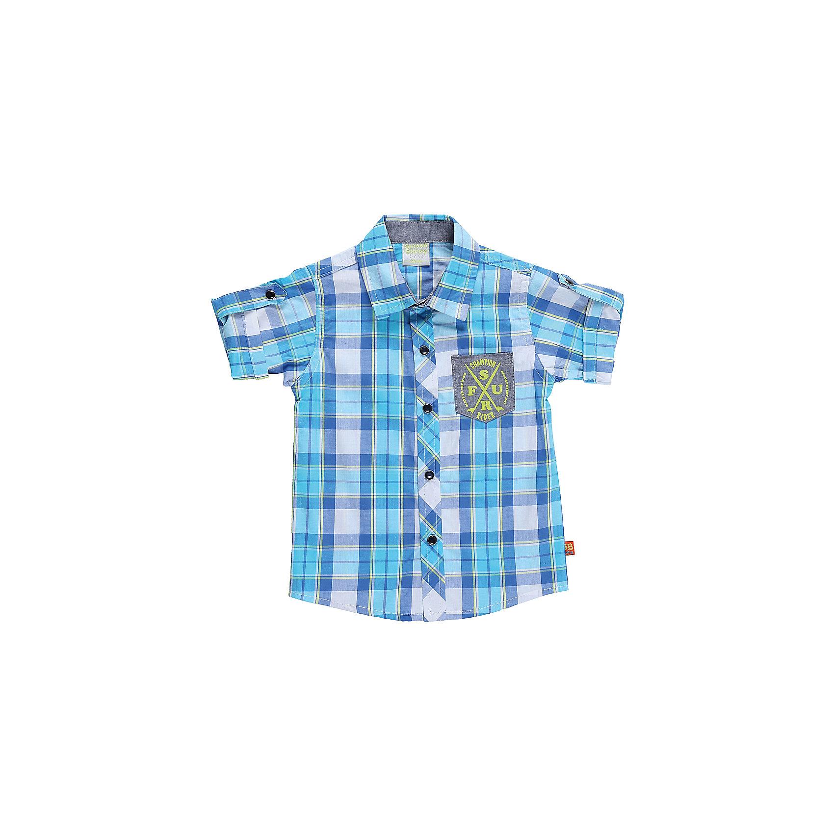 Рубашка для мальчика Sweet BerryФутболки, топы<br>Текстильная рубашка из хлопка в клетку для мальчика. Короткий рукав, накладной карман на левой полочке. Застегивается на кнопки. Отложной воротничок.<br>Состав:<br>100%хлопок<br><br>Ширина мм: 174<br>Глубина мм: 10<br>Высота мм: 169<br>Вес г: 157<br>Цвет: зеленый<br>Возраст от месяцев: 12<br>Возраст до месяцев: 15<br>Пол: Мужской<br>Возраст: Детский<br>Размер: 80,86,92,98<br>SKU: 5411586