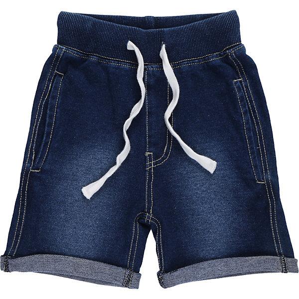 Шорты джинсовые для мальчика Sweet BerryШорты и бриджи<br>Мягкие, трикотажные шорты с отворотом, под Джинсу для мальчика. Спереди два прорезных кармана. Пояс-резинка дополнен шнуром для регулирования объема.<br>Состав:<br>95%хлопок 5%эластан<br><br>Ширина мм: 191<br>Глубина мм: 10<br>Высота мм: 175<br>Вес г: 273<br>Цвет: синий<br>Возраст от месяцев: 12<br>Возраст до месяцев: 18<br>Пол: Мужской<br>Возраст: Детский<br>Размер: 86,80,98,92<br>SKU: 5411600
