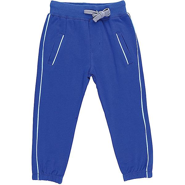 Брюки для мальчика Sweet BerryБрюки<br>Трикотажные брюки, низ брючин собран на мягкую резинку. Модель имеет прорезные карманы и декоративный кант. Пояс-резинка дополнен шнуром для регулирования объема.<br>Состав:<br>95%хлопок 5%эластан<br>Ширина мм: 215; Глубина мм: 88; Высота мм: 191; Вес г: 336; Цвет: синий; Возраст от месяцев: 12; Возраст до месяцев: 18; Пол: Мужской; Возраст: Детский; Размер: 86,80,98,92; SKU: 5411615;
