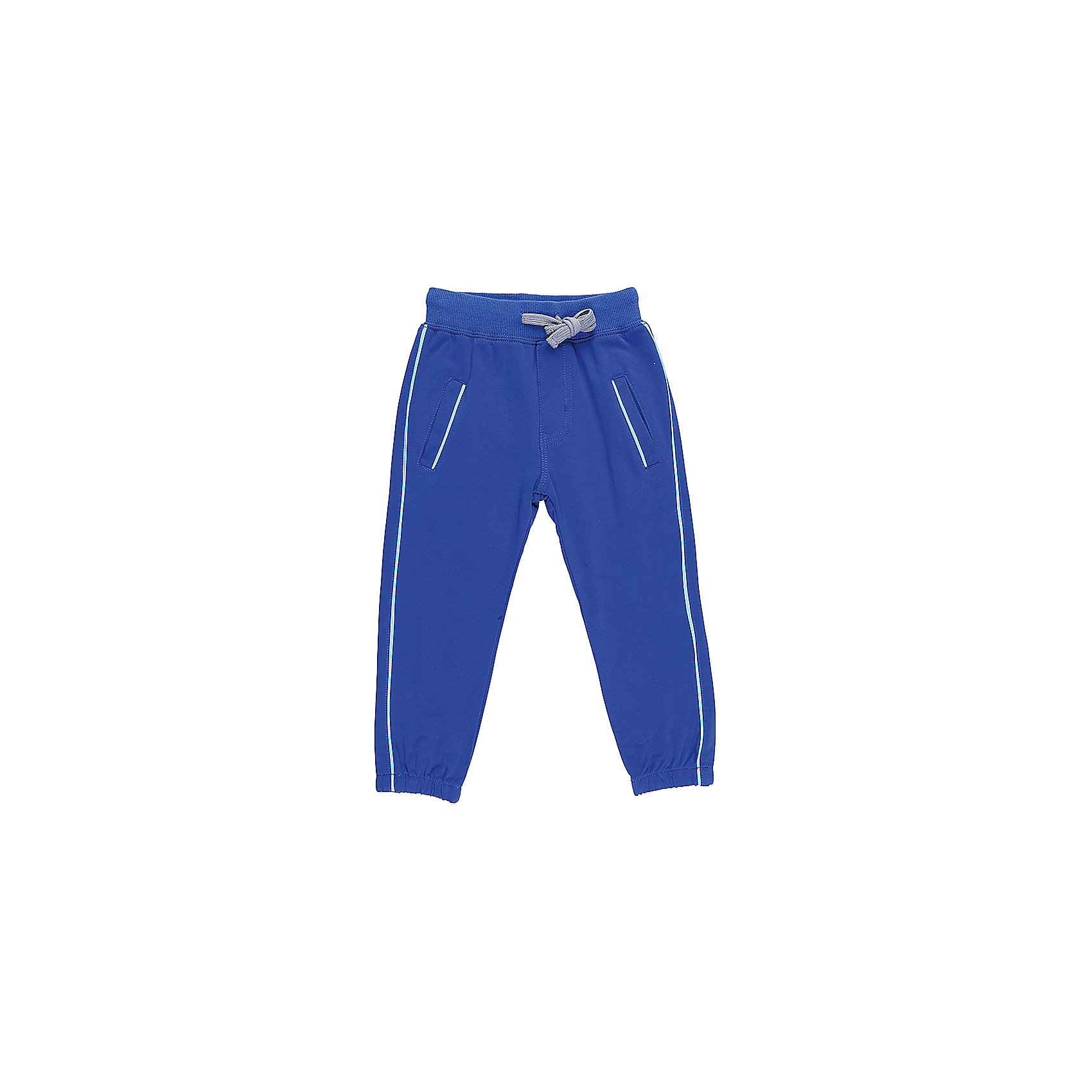 Брюки для мальчика Sweet BerryБрюки<br>Трикотажные брюки, низ брючин собран на мягкую резинку. Модель имеет прорезные карманы и декоративный кант. Пояс-резинка дополнен шнуром для регулирования объема.<br>Состав:<br>95%хлопок 5%эластан<br><br>Ширина мм: 215<br>Глубина мм: 88<br>Высота мм: 191<br>Вес г: 336<br>Цвет: синий<br>Возраст от месяцев: 12<br>Возраст до месяцев: 15<br>Пол: Мужской<br>Возраст: Детский<br>Размер: 80,86,92,98<br>SKU: 5411615