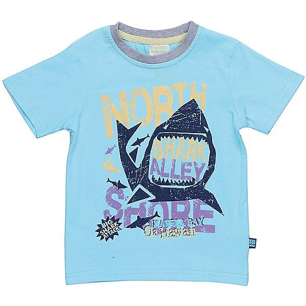 Футболка для мальчика Sweet BerryФутболки, топы<br>Бирюзовая футболка с оригинальным принтом для мальчика. Рисунок изображает акулу и надписи.  Горловина окантована контрастным кантом.  Рукав короткий.<br>Состав:<br>95%хлопок 5%эластан<br><br>Ширина мм: 199<br>Глубина мм: 10<br>Высота мм: 161<br>Вес г: 151<br>Цвет: голубой<br>Возраст от месяцев: 12<br>Возраст до месяцев: 18<br>Пол: Мужской<br>Возраст: Детский<br>Размер: 86,80,98,92<br>SKU: 5411635