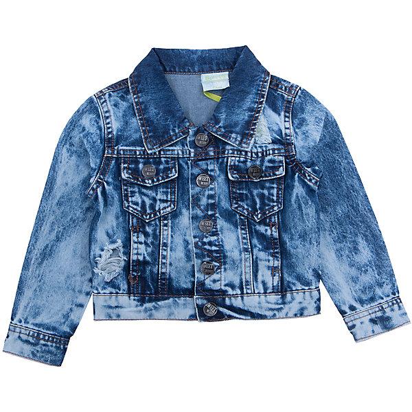 Куртка джинсовая для мальчика Sweet BerryДжинсы и брючки<br>Джинсовая куртка  для мальчика с оригинальной варкой. Декорирована потертостями и эффектом рваной джинсы. Куртка застегивается на кнопки, спереди два накладных кармана. Воротник отложной.<br>Состав:<br>100%хлопок<br><br>Ширина мм: 356<br>Глубина мм: 10<br>Высота мм: 245<br>Вес г: 519<br>Цвет: синий<br>Возраст от месяцев: 12<br>Возраст до месяцев: 18<br>Пол: Мужской<br>Возраст: Детский<br>Размер: 86,80,98,92<br>SKU: 5411705