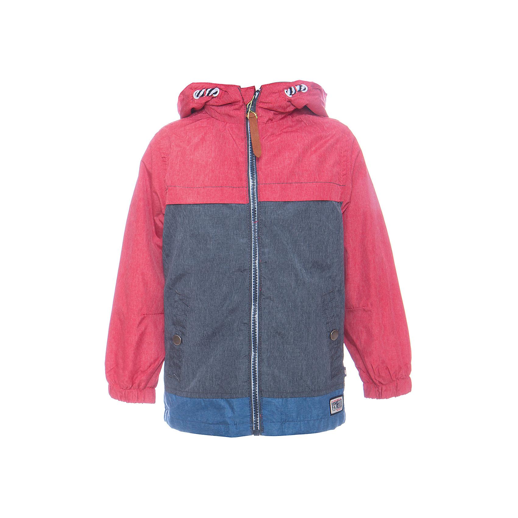 Ветровка для мальчика Sweet BerryВерхняя одежда<br>Стильная, ветровка оригинально сочетает в себе три цвета. С хлопковой подкладкой. Модель с двумя удобными карманами. Капюшон с дополнительной утяжкой. Рукава собраны на мягкую резинку. Комфортная температура эксплуатации от +10 С и выше.<br>Состав:<br>Верх: 75%нейлон, 25%полиэстер.  Подкладка: 100%хлопок.<br><br>Ширина мм: 356<br>Глубина мм: 10<br>Высота мм: 245<br>Вес г: 519<br>Цвет: красный<br>Возраст от месяцев: 12<br>Возраст до месяцев: 15<br>Пол: Мужской<br>Возраст: Детский<br>Размер: 80,86,92,98<br>SKU: 5411710