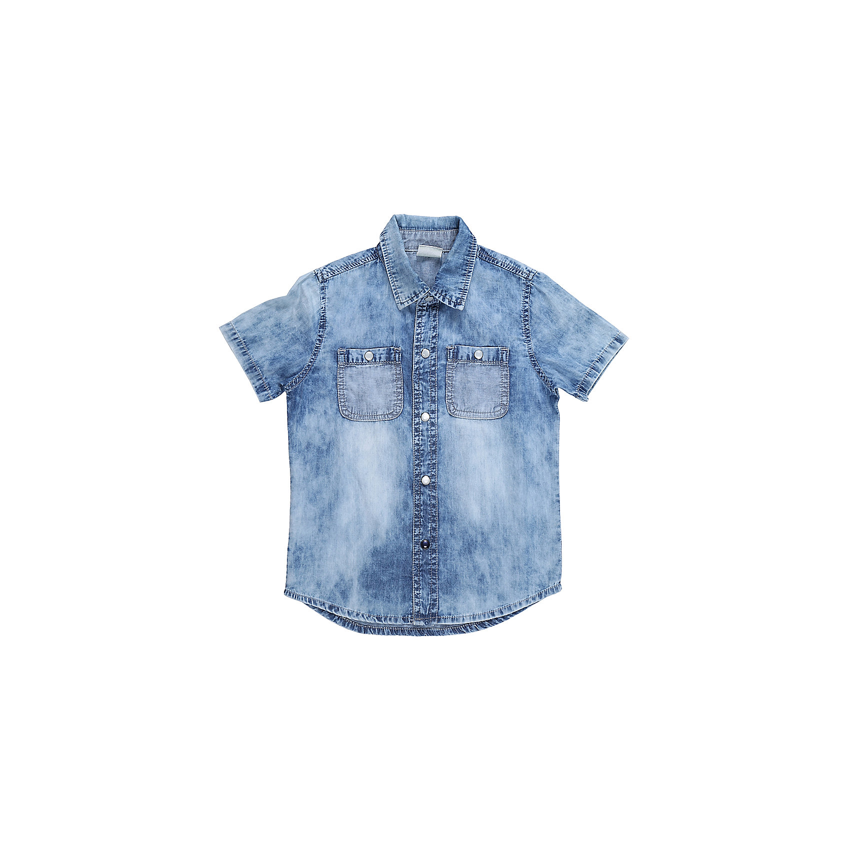 Рубашка джинсовая для мальчика Sweet BerryФутболки, топы<br>Хлопковая рубашка из тонкой ткани под джинсу. Застежка на кнопках. На полочках два накладных карманы. Спинка декорирована оригинальным принтом. Отложной воротничок.<br>Состав:<br>100%хлопок<br><br>Ширина мм: 174<br>Глубина мм: 10<br>Высота мм: 169<br>Вес г: 157<br>Цвет: голубой<br>Возраст от месяцев: 12<br>Возраст до месяцев: 15<br>Пол: Мужской<br>Возраст: Детский<br>Размер: 80,86,92,98<br>SKU: 5411720