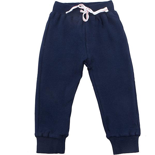 Брюки для мальчика Sweet BerryДжинсы и брючки<br>Трикотажные брюки, низ брючин собран на мягкую резинку. Модель имеет прорезные карманы и декоративный кант. Пояс-резинка дополнен шнуром для регулирования объема.<br>Состав:<br>95%хлопок 5%эластан<br>Ширина мм: 215; Глубина мм: 88; Высота мм: 191; Вес г: 336; Цвет: синий; Возраст от месяцев: 12; Возраст до месяцев: 18; Пол: Мужской; Возраст: Детский; Размер: 86,80,98,92; SKU: 5411774;