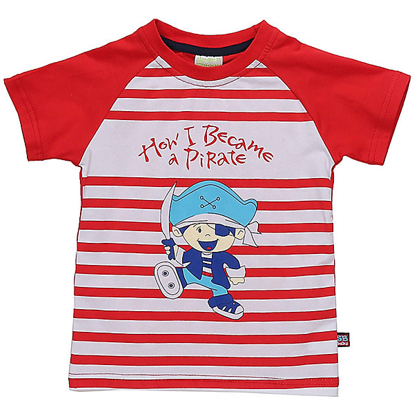 Футболка для мальчика Sweet BerryФутболки, топы<br>Яркая футболка с рукавом реглан в полоску для мальчика. Декорирована яркой аппликацией.<br>Состав:<br>95%хлопок 5%эластан<br>Ширина мм: 199; Глубина мм: 10; Высота мм: 161; Вес г: 151; Цвет: белый; Возраст от месяцев: 12; Возраст до месяцев: 15; Пол: Мужской; Возраст: Детский; Размер: 80,86,92,98; SKU: 5411789;
