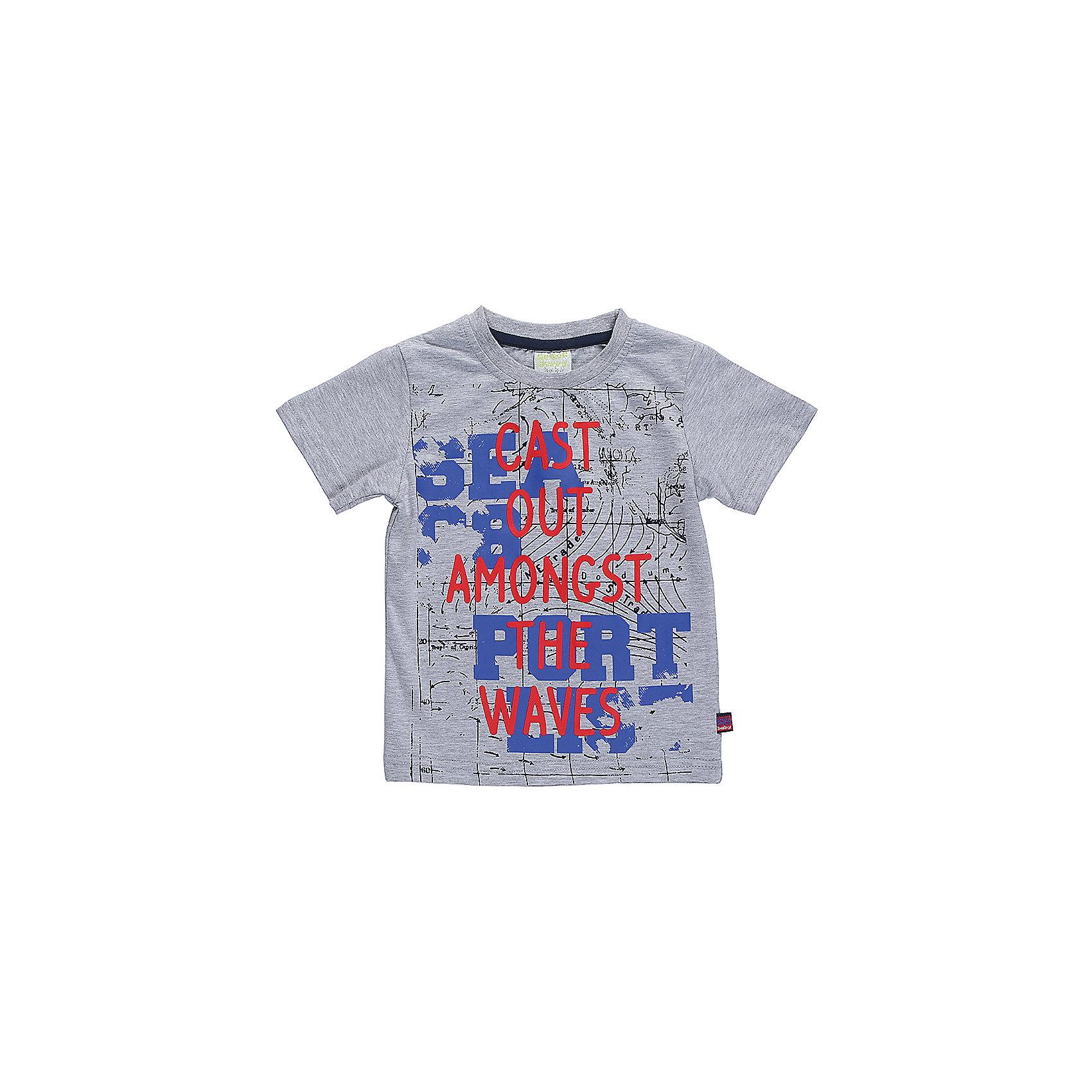 Футболка для мальчика Sweet BerryФутболки, поло и топы<br>Меланжевая футболка из трикотажной тканис разноцветным принтом для мальчика.<br>Состав:<br>95%хлопок 5%эластан<br><br>Ширина мм: 199<br>Глубина мм: 10<br>Высота мм: 161<br>Вес г: 151<br>Цвет: серый<br>Возраст от месяцев: 12<br>Возраст до месяцев: 15<br>Пол: Мужской<br>Возраст: Детский<br>Размер: 80,86,92,98<br>SKU: 5411805