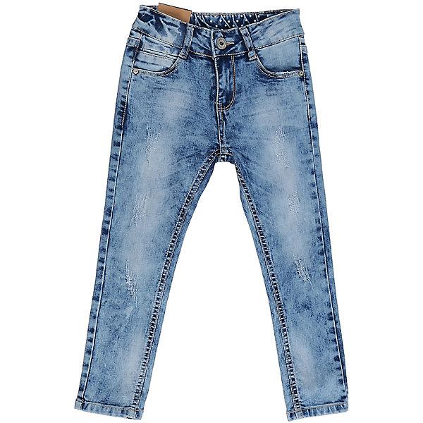 Джинсы для девочки Sweet BerryДжинсы<br>Джинсы  для девочки с оригинальной варкой, эффектами потертости и рваной джинсы. Имеют зауженный крой, среднюю посадку. Застегиваются на молнию и пуговицу. Шлевки на поясе рассчитаны под ремень. В боковой части пояса находятся вшитые эластичные ленты, регулирующие посадку по талии.<br>Состав:<br>98%хлопок 2%эластан<br><br>Ширина мм: 215<br>Глубина мм: 88<br>Высота мм: 191<br>Вес г: 336<br>Цвет: голубой<br>Возраст от месяцев: 72<br>Возраст до месяцев: 84<br>Пол: Женский<br>Возраст: Детский<br>Размер: 122,116,110,98,104,128<br>SKU: 5411904