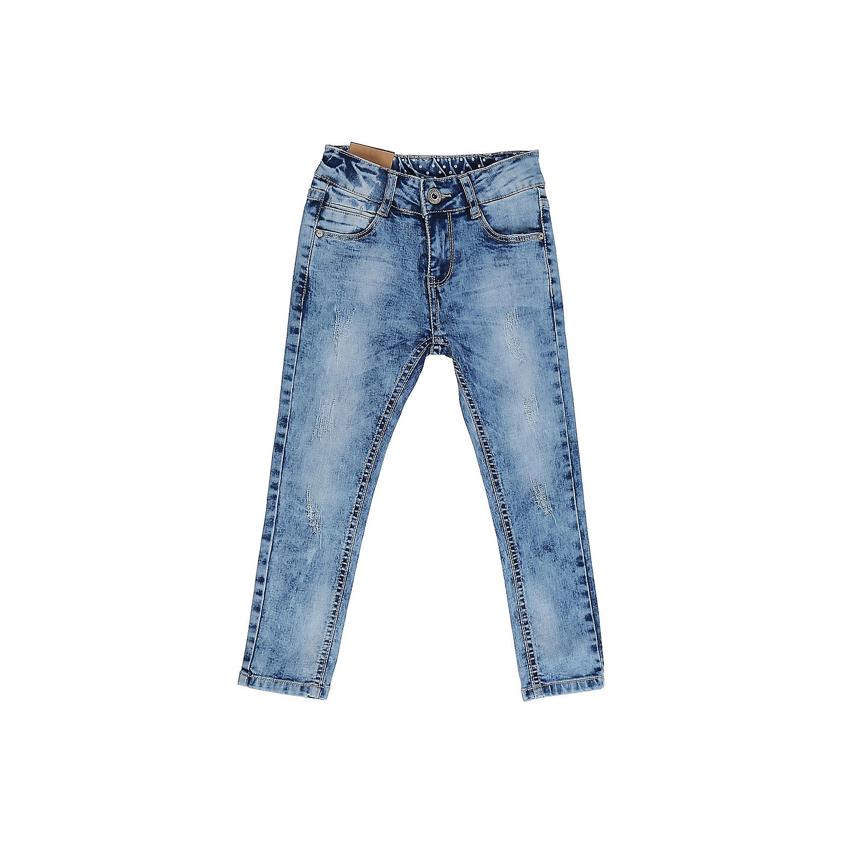 Джинсы для девочки Sweet BerryДжинсы<br>Джинсы  для девочки с оригинальной варкой, эффектами потертости и рваной джинсы. Имеют зауженный крой, среднюю посадку. Застегиваются на молнию и пуговицу. Шлевки на поясе рассчитаны под ремень. В боковой части пояса находятся вшитые эластичные ленты, регулирующие посадку по талии.<br>Состав:<br>98%хлопок 2%эластан<br><br>Ширина мм: 215<br>Глубина мм: 88<br>Высота мм: 191<br>Вес г: 336<br>Цвет: голубой<br>Возраст от месяцев: 36<br>Возраст до месяцев: 48<br>Пол: Женский<br>Возраст: Детский<br>Размер: 104,98,110,116,122,128<br>SKU: 5411904