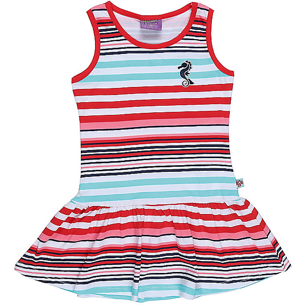 Платье для девочки Sweet BerryПлатья и сарафаны<br>Трикотажное платье для девочки без рукавов в полоску. Декрированно вышивкой.<br>Состав:<br>95%хлопок 5%эластан<br>Ширина мм: 236; Глубина мм: 16; Высота мм: 184; Вес г: 177; Цвет: белый; Возраст от месяцев: 24; Возраст до месяцев: 36; Пол: Женский; Возраст: Детский; Размер: 98,104,128,122,116,110; SKU: 5411929;