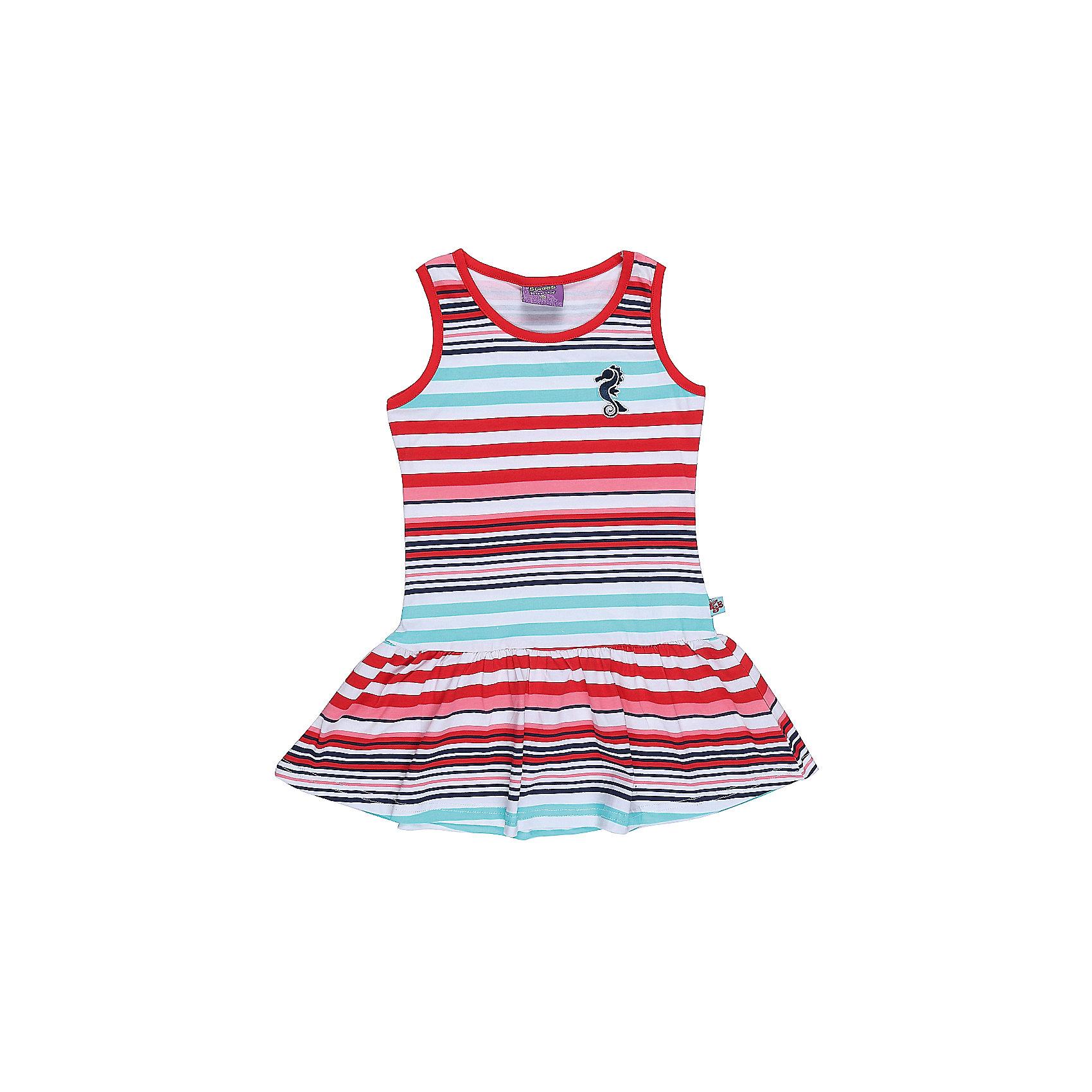 Платье для девочки Sweet BerryПлатья и сарафаны<br>Трикотажное платье для девочки без рукавов в полоску. Декрированно вышивкой.<br>Состав:<br>95%хлопок 5%эластан<br><br>Ширина мм: 236<br>Глубина мм: 16<br>Высота мм: 184<br>Вес г: 177<br>Цвет: разноцветный<br>Возраст от месяцев: 36<br>Возраст до месяцев: 48<br>Пол: Женский<br>Возраст: Детский<br>Размер: 104,98,110,116,122,128<br>SKU: 5411929