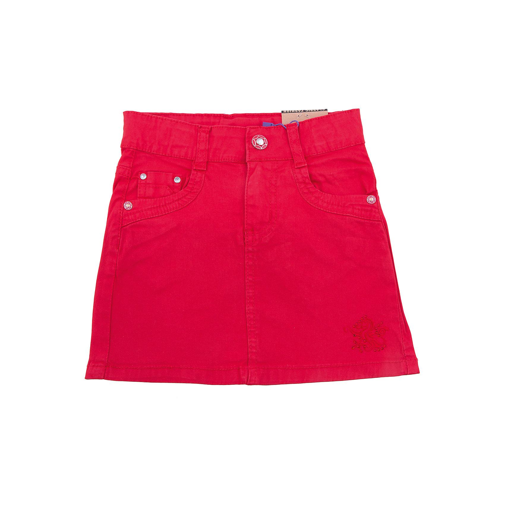 Юбка для девочки Sweet BerryЮбки<br>Яркая трикотажная юбка для девочки. Низ изделия декорирован вышивкой и стразами. Пояс с регулировкой внутренней резинкой.<br>Состав:<br>98%хлопок 2%эластан<br><br>Ширина мм: 207<br>Глубина мм: 10<br>Высота мм: 189<br>Вес г: 183<br>Цвет: розовый<br>Возраст от месяцев: 72<br>Возраст до месяцев: 84<br>Пол: Женский<br>Возраст: Детский<br>Размер: 122,128,98,110,104,116<br>SKU: 5411969