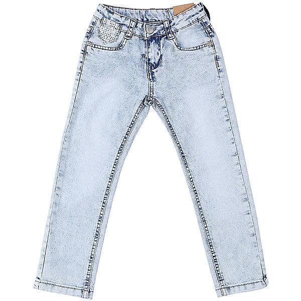 Джинсы для девочки Sweet BerryДжинсовая одежда<br>Джинсы  для девочки с оригинальной варкой. Имеют зауженный крой, среднюю посадку. Застегиваются на молнию и пуговицу. Шлевки на поясе рассчитаны под ремень. В боковой части пояса находятся вшитые эластичные ленты, регулирующие посадку по талии.<br>Состав:<br>98%хлопок 2%эластан<br>Ширина мм: 215; Глубина мм: 88; Высота мм: 191; Вес г: 336; Цвет: синий; Возраст от месяцев: 24; Возраст до месяцев: 36; Пол: Женский; Возраст: Детский; Размер: 98,104,128,122,116,110; SKU: 5411976;