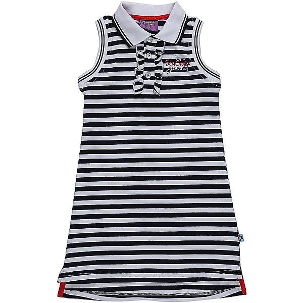 Платье для девочки Sweet BerryПлатья и сарафаны<br>Трикотажное платье для девочки без рукавов в полоску. Отложенный воротничок. Застегивается на пуговки.<br>Состав:<br>95%хлопок 5%эластан<br><br>Ширина мм: 236<br>Глубина мм: 16<br>Высота мм: 184<br>Вес г: 177<br>Цвет: белый<br>Возраст от месяцев: 72<br>Возраст до месяцев: 84<br>Пол: Женский<br>Возраст: Детский<br>Размер: 122,116,110,98,104,128<br>SKU: 5411983