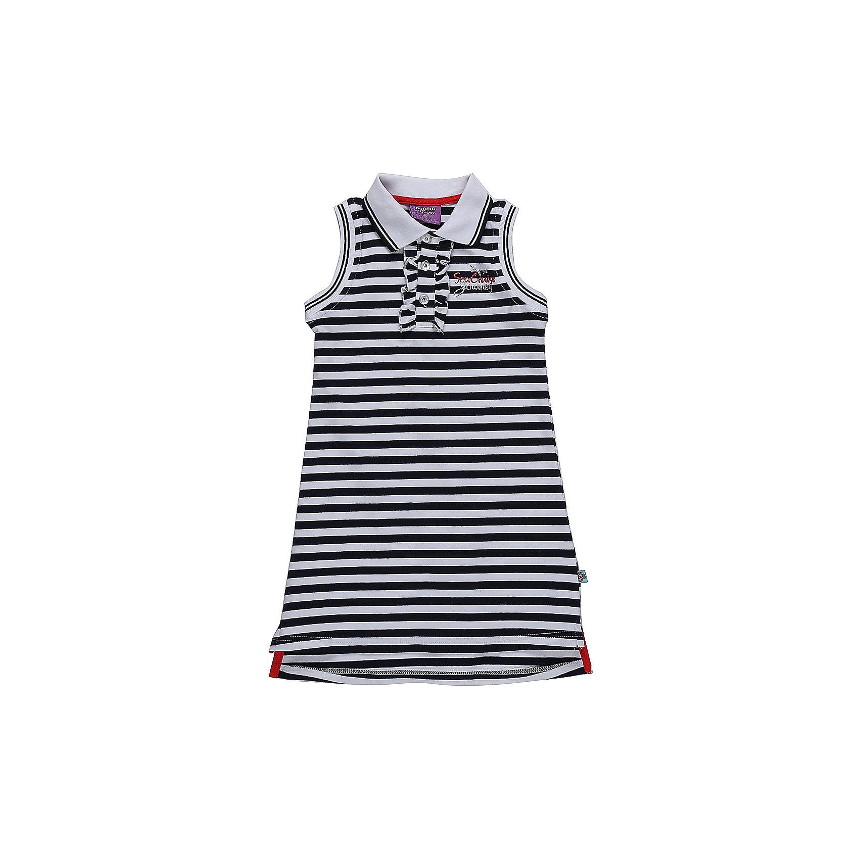 Платье для девочки Sweet BerryПлатья и сарафаны<br>Трикотажное платье для девочки без рукавов в полоску. Отложенный воротничок. Застегивается на пуговки.<br>Состав:<br>95%хлопок 5%эластан<br><br>Ширина мм: 236<br>Глубина мм: 16<br>Высота мм: 184<br>Вес г: 177<br>Цвет: белый<br>Возраст от месяцев: 36<br>Возраст до месяцев: 48<br>Пол: Женский<br>Возраст: Детский<br>Размер: 104,98,110,116,122,128<br>SKU: 5411983
