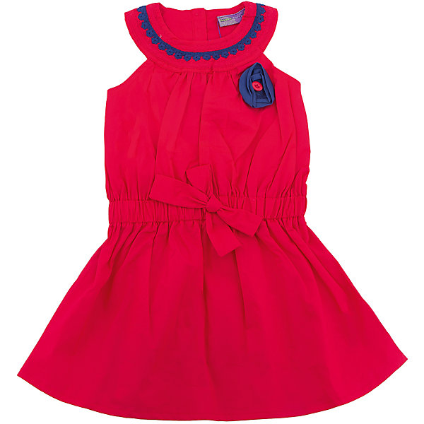 Платье для девочки Sweet BerryЛетние платья и сарафаны<br>Стильное яркое платье для девочки без рукавов. Декорировано контрастным кружевом по горловине изделия. Талия присборена поясом. Застежка на пуговичках на спинке.<br>Состав:<br>100% хлопок<br>Ширина мм: 236; Глубина мм: 16; Высота мм: 184; Вес г: 177; Цвет: красный; Возраст от месяцев: 36; Возраст до месяцев: 48; Пол: Женский; Возраст: Детский; Размер: 104,128,122,116,110,98; SKU: 5412004;
