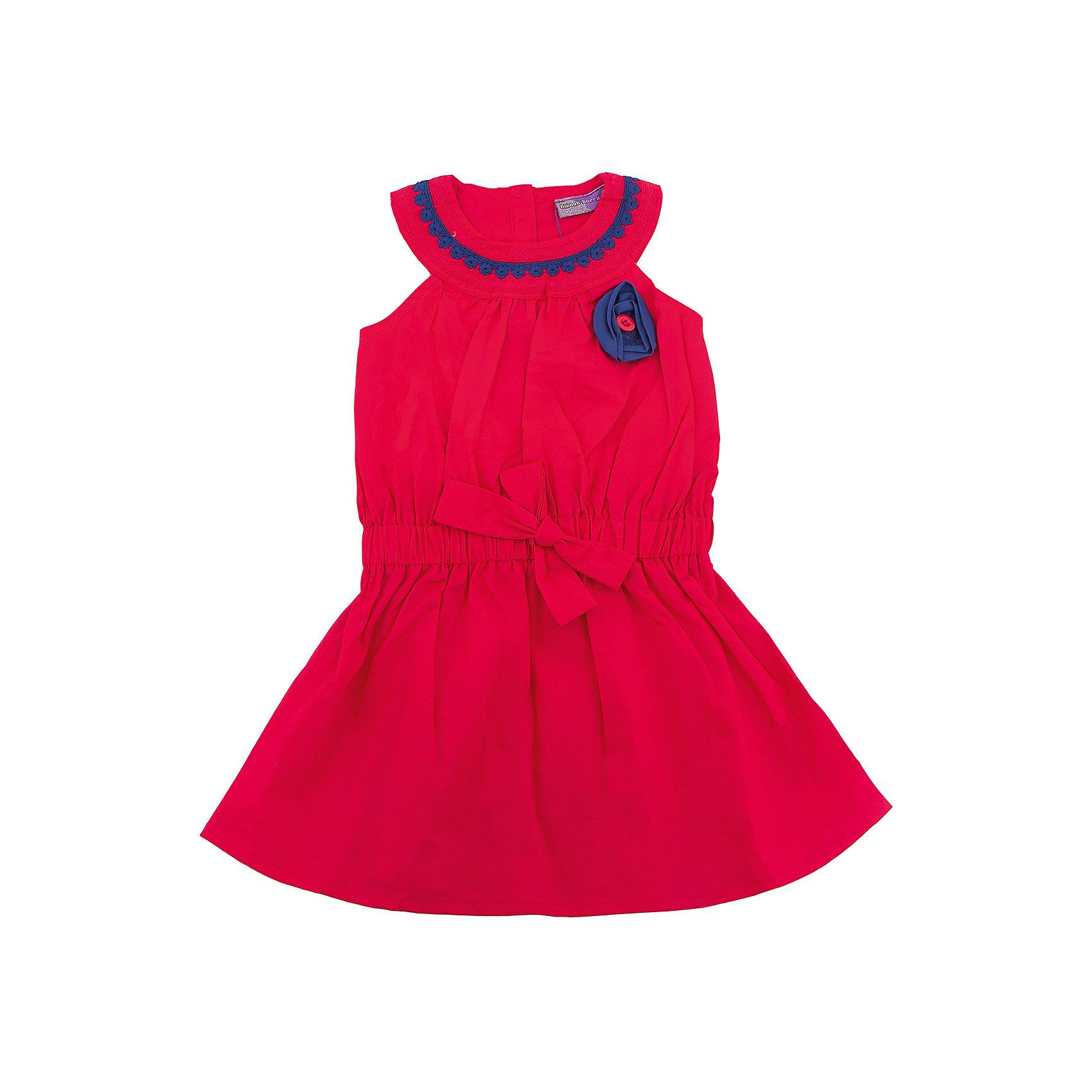 Платье для девочки Sweet BerryПлатья и сарафаны<br>Стильное яркое платье для девочки без рукавов. Декорировано контрастным кружевом по горловине изделия. Талия присборена поясом. Застежка на пуговичках на спинке.<br>Состав:<br>100% хлопок<br><br>Ширина мм: 236<br>Глубина мм: 16<br>Высота мм: 184<br>Вес г: 177<br>Цвет: красный<br>Возраст от месяцев: 36<br>Возраст до месяцев: 48<br>Пол: Женский<br>Возраст: Детский<br>Размер: 104,98,110,116,122,128<br>SKU: 5412004