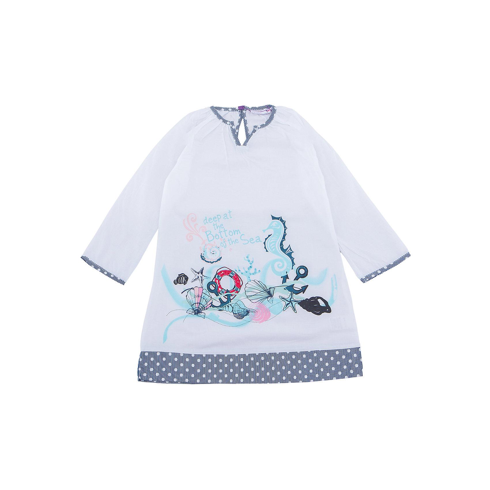 Платье для девочки Sweet BerryПлатья и сарафаны<br>Хлопковое платье-туника для жаркого лета.  Декорированно оригинальным принтом и контрастной отделкой горловины и низа изделия.<br>Состав:<br>100% хлопок<br><br>Ширина мм: 236<br>Глубина мм: 16<br>Высота мм: 184<br>Вес г: 177<br>Цвет: белый<br>Возраст от месяцев: 36<br>Возраст до месяцев: 48<br>Пол: Женский<br>Возраст: Детский<br>Размер: 104,110,116,128,140<br>SKU: 5412072