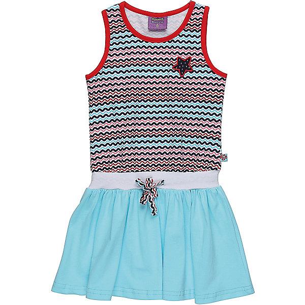 Платье для девочки Sweet BerryЛетние платья и сарафаны<br>Трикотажное платье для девочки без рукавов в полоску. Декрированно вышивкой и контрастным воланом.<br>Состав:<br>95%хлопок 5%эластан<br>Ширина мм: 236; Глубина мм: 16; Высота мм: 184; Вес г: 177; Цвет: белый; Возраст от месяцев: 36; Возраст до месяцев: 48; Пол: Женский; Возраст: Детский; Размер: 104,128,98,110,116,122; SKU: 5412134;