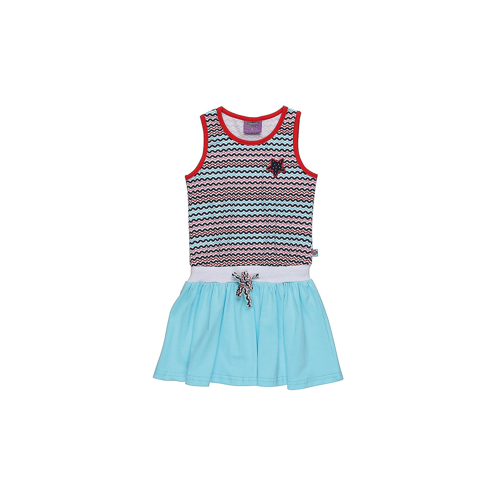 Платье для девочки Sweet BerryЛетние платья и сарафаны<br>Трикотажное платье для девочки без рукавов в полоску. Декрированно вышивкой и контрастным воланом.<br>Состав:<br>95%хлопок 5%эластан<br><br>Ширина мм: 236<br>Глубина мм: 16<br>Высота мм: 184<br>Вес г: 177<br>Цвет: разноцветный<br>Возраст от месяцев: 36<br>Возраст до месяцев: 48<br>Пол: Женский<br>Возраст: Детский<br>Размер: 104,128,98,110,116,122<br>SKU: 5412134