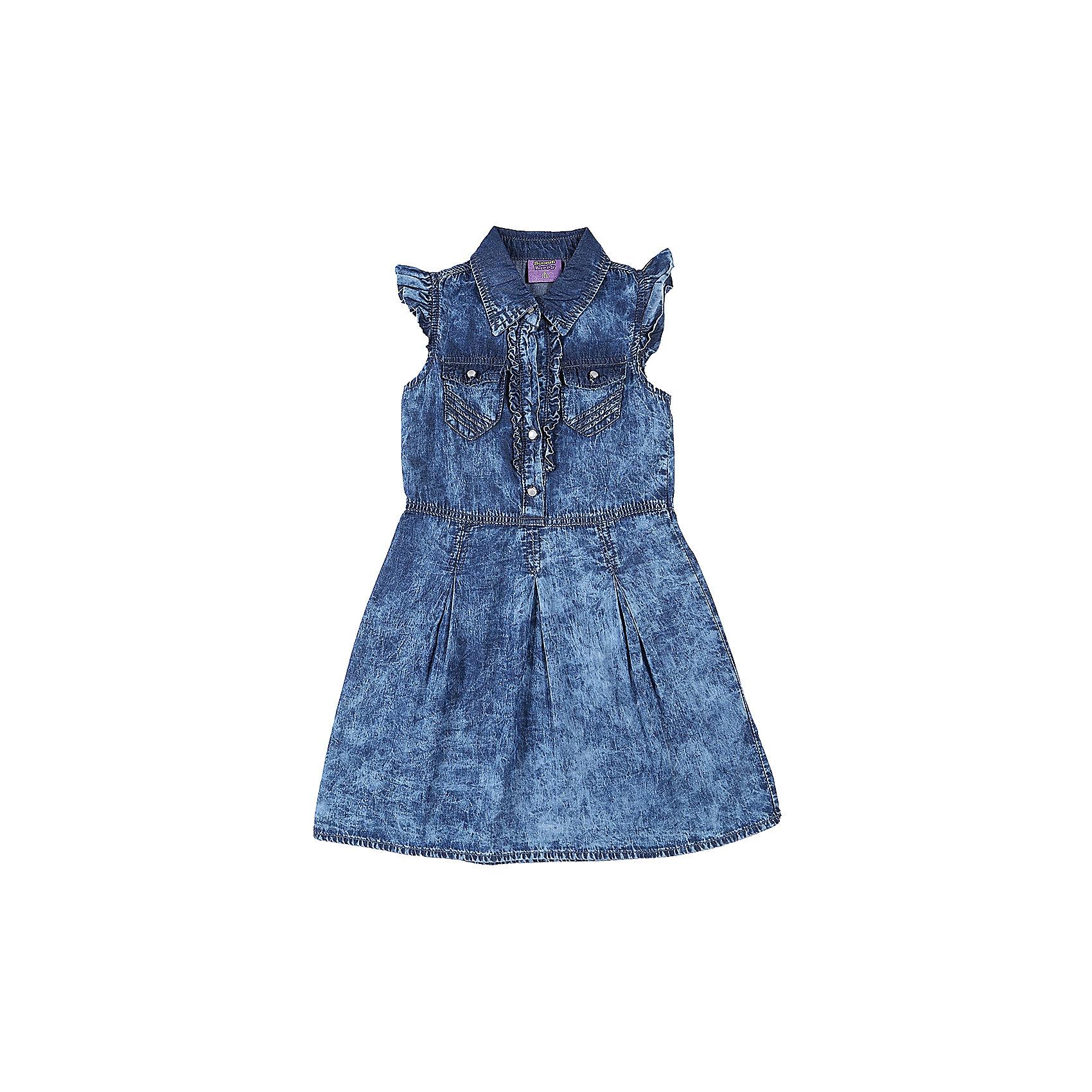 Платье джинсовое для девочки Sweet BerryДжинсовая одежда<br>Текстильное платье для девочки из тонкой хлопковой ткани под джинсу. Два накладных кармана, отложенный воротничок. Застежка - кнопки.<br>Состав:<br>100%хлопок<br><br>Ширина мм: 236<br>Глубина мм: 16<br>Высота мм: 184<br>Вес г: 177<br>Цвет: синий<br>Возраст от месяцев: 36<br>Возраст до месяцев: 48<br>Пол: Женский<br>Возраст: Детский<br>Размер: 104,98,110,116,122,128<br>SKU: 5412148