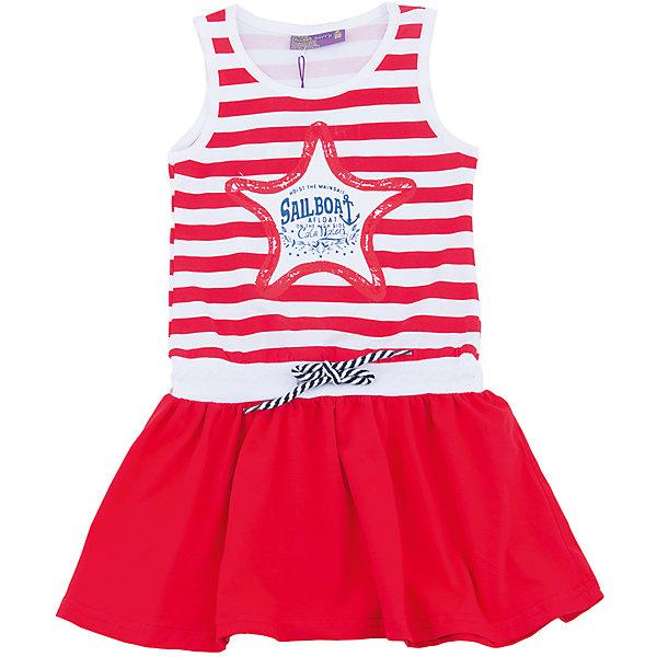 Платье для девочки Sweet BerryПлатья и сарафаны<br>Трикотажное платье для девочки без рукавов в полоску. Декрированно оригинальным принтом.<br>Состав:<br>100%хлопок<br><br>Ширина мм: 236<br>Глубина мм: 16<br>Высота мм: 184<br>Вес г: 177<br>Цвет: красный<br>Возраст от месяцев: 24<br>Возраст до месяцев: 36<br>Пол: Женский<br>Возраст: Детский<br>Размер: 98,104,128,122,116,110<br>SKU: 5412155