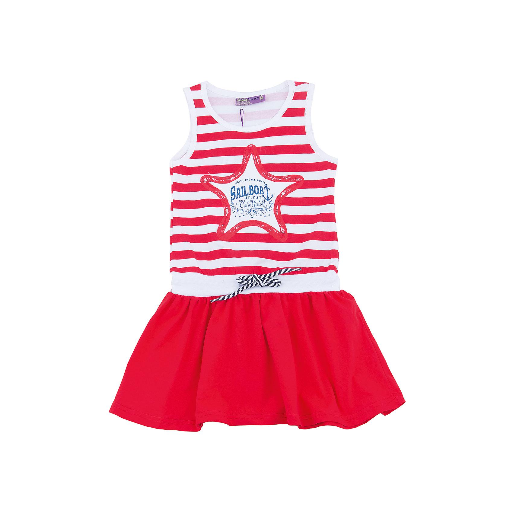 Платье для девочки Sweet BerryПлатья и сарафаны<br>Трикотажное платье для девочки без рукавов в полоску. Декрированно оригинальным принтом.<br>Состав:<br>100%хлопок<br><br>Ширина мм: 236<br>Глубина мм: 16<br>Высота мм: 184<br>Вес г: 177<br>Цвет: красный<br>Возраст от месяцев: 36<br>Возраст до месяцев: 48<br>Пол: Женский<br>Возраст: Детский<br>Размер: 122,104,98,110,116,128<br>SKU: 5412155