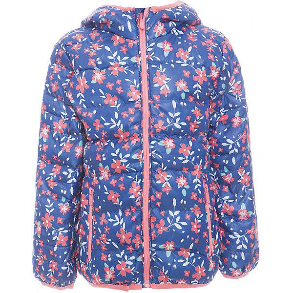 Куртка для девочки Sweet BerryДемисезонные куртки<br>Утепленная, стеганая куртка с цветочным принтом для девочки. Цельнокроеный капюшон, два прорезных карманы на молнии. Капюшон и  рукава оформлены контрастной окантовочной резинкой.<br>Состав:<br>Верх: 100%полиэстер. Подкладка: 65%хлопок 35%полиэстер. Наполнитель: 100%полиэстер<br>Ширина мм: 356; Глубина мм: 10; Высота мм: 245; Вес г: 519; Цвет: синий; Возраст от месяцев: 36; Возраст до месяцев: 48; Пол: Женский; Возраст: Детский; Размер: 104,98,110,116,122,128; SKU: 5412191;