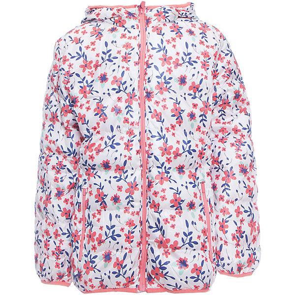 Куртка для девочки Sweet BerryДемисезонные куртки<br>Утепленная текстильная куртка для девочек. Нарядная и модная, с бело-розовой расцветкой.  Куртка имеет капюшон, который частично затягивается молнией.<br>Состав:<br>Верх: 100%полиэстер. Подкладка: 65%хлопок 35%полиэстер. Наполнитель: 100%полиэстер<br>Ширина мм: 356; Глубина мм: 10; Высота мм: 245; Вес г: 519; Цвет: розовый; Возраст от месяцев: 24; Возраст до месяцев: 36; Пол: Женский; Возраст: Детский; Размер: 98,104,128,122,116,110; SKU: 5412198;