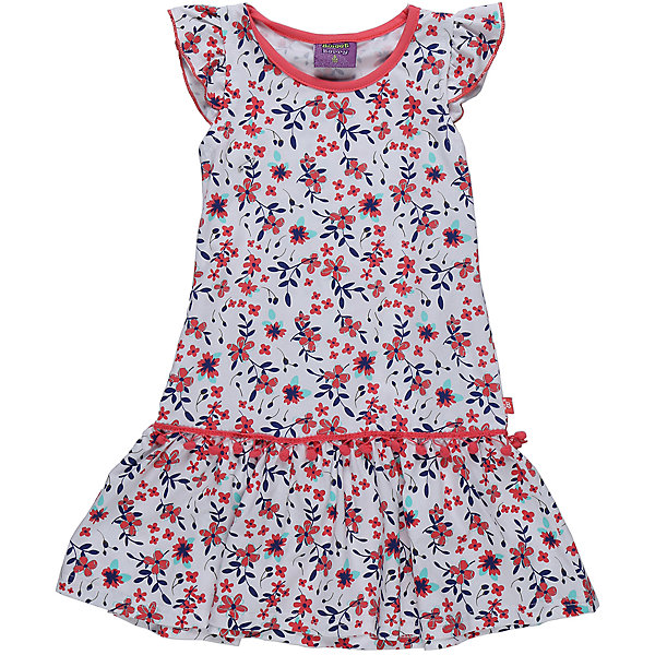 Платье для девочки Sweet BerryПлатья и сарафаны<br>Платье из трикотажной принтованной ткани. Рукава-крылышки. Горловина выполнена из контрастной ткани.<br>Состав:<br>95%хлопок 5%эластан<br>Ширина мм: 236; Глубина мм: 16; Высота мм: 184; Вес г: 177; Цвет: белый; Возраст от месяцев: 72; Возраст до месяцев: 84; Пол: Женский; Возраст: Детский; Размер: 122,128,104,98,110,116; SKU: 5412212;