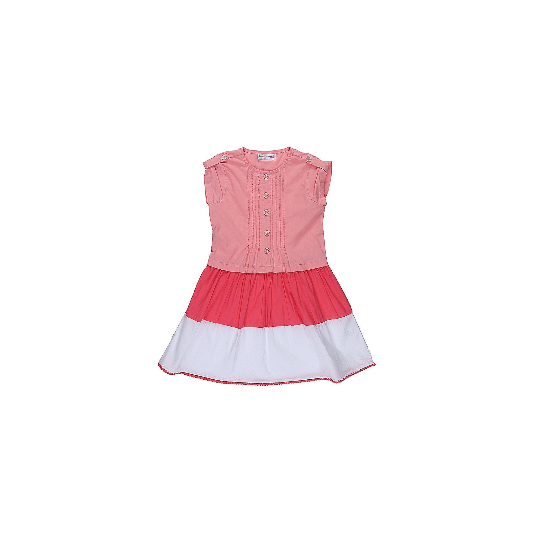 Платье для девочки Sweet BerryХлопковое платье для девочки из комбинированной ткани. Декорированно контрастной отделкой по низу изделия и плетеным кружевом. Застегивается на пуговки.<br>Состав:<br>100% хлопок<br><br>Ширина мм: 236<br>Глубина мм: 16<br>Высота мм: 184<br>Вес г: 177<br>Цвет: оранжевый<br>Возраст от месяцев: 24<br>Возраст до месяцев: 36<br>Пол: Женский<br>Возраст: Детский<br>Размер: 98,104,110,116,122,128<br>SKU: 5412219
