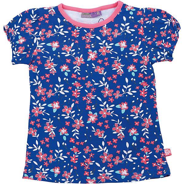 Футболка для девочки Sweet BerryФутболки, поло и топы<br>Трикотажная футболка для девочки с цветочным принтом. Приталенный крой. Короткие рукава.<br>Состав:<br>95%хлопок 5%эластан<br>Ширина мм: 199; Глубина мм: 10; Высота мм: 161; Вес г: 151; Цвет: синий; Возраст от месяцев: 36; Возраст до месяцев: 48; Пол: Женский; Возраст: Детский; Размер: 104,98,110,116,122,128; SKU: 5412265;