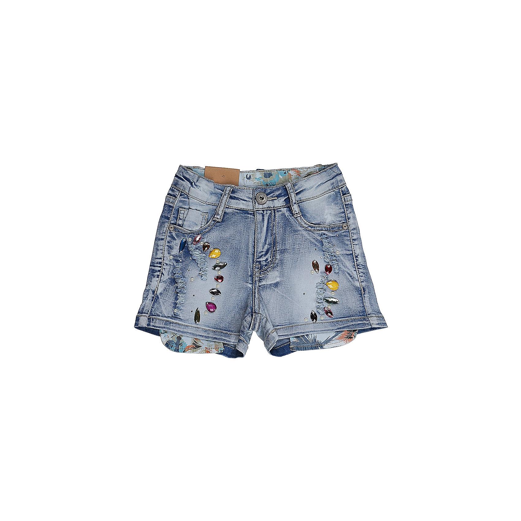 Шорты джинсовые для девочки Sweet BerryДжинсовая одежда<br>Джинсовые шорты для девочки. Декорированы яркой аппликацией и стразами. Застегиваются на молнию и пуговицу.   В боковой части пояса находятся вшитые эластичные ленты, регулирующие посадку по талии.<br>Состав:<br>98%хлопок 2%эластан<br><br>Ширина мм: 191<br>Глубина мм: 10<br>Высота мм: 175<br>Вес г: 273<br>Цвет: синий<br>Возраст от месяцев: 36<br>Возраст до месяцев: 48<br>Пол: Женский<br>Возраст: Детский<br>Размер: 104,98,110,116,122,128<br>SKU: 5412300