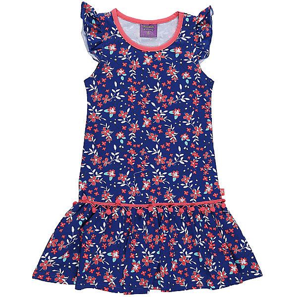 Платье для девочки Sweet BerryЛетние платья и сарафаны<br>Платье из трикотажной принтованной ткани. Рукава-крылышки. Горловина выполнена из контрастной ткани.<br>Состав:<br>95%хлопок 5%эластан<br>Ширина мм: 236; Глубина мм: 16; Высота мм: 184; Вес г: 177; Цвет: синий; Возраст от месяцев: 24; Возраст до месяцев: 36; Пол: Женский; Возраст: Детский; Размер: 98,104,128,122,116,110; SKU: 5412347;