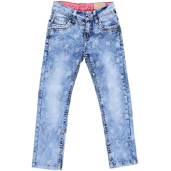 Джинсы для девочки Sweet BerryДжинсовая одежда<br>Джинсы  для девочки с оригинальной варкой и цветочным принтом. Имеют зауженный крой, среднюю посадку. Застегиваются на молнию и пуговицу. Шлевки на поясе рассчитаны под ремень. В боковой части пояса находятся вшитые эластичные ленты, регулирующие посадку по талии.<br>Состав:<br>98%хлопок 2%эластан<br><br>Ширина мм: 215<br>Глубина мм: 88<br>Высота мм: 191<br>Вес г: 336<br>Цвет: синий<br>Возраст от месяцев: 84<br>Возраст до месяцев: 96<br>Пол: Женский<br>Возраст: Детский<br>Размер: 116,128,122,104,98,110<br>SKU: 5412368