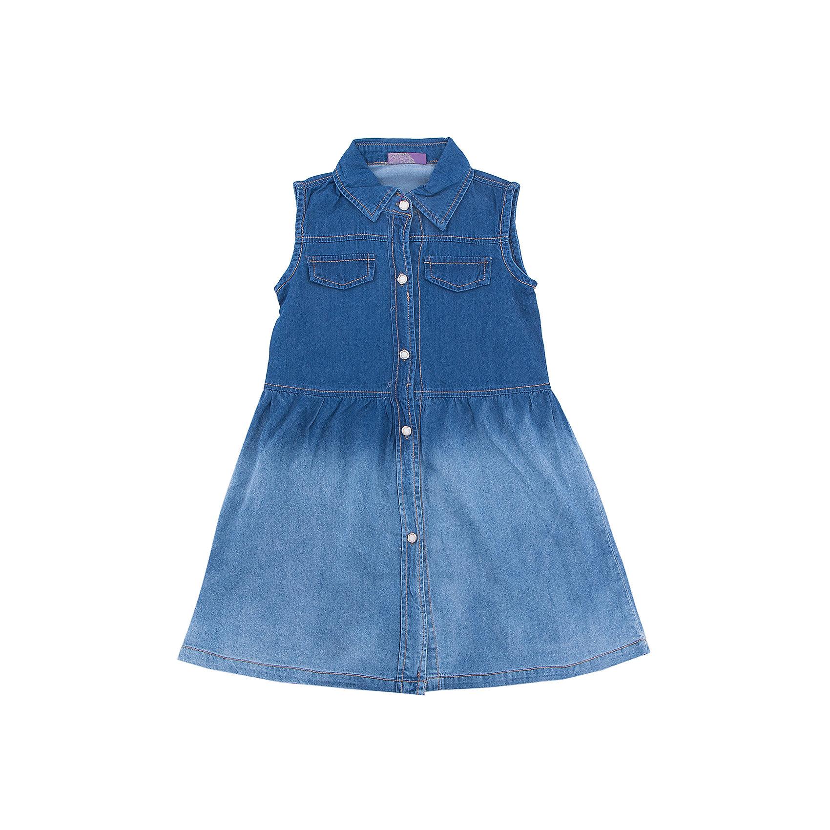 Платье джинсовое для девочки Sweet BerryДжинсовая одежда<br>Платье из тонкого хлопка под джинсу для девочки с отложным воротничком. Застегивается на оригинальные пуговки.<br>Состав:<br>98%хлопок 2%эластан<br><br>Ширина мм: 236<br>Глубина мм: 16<br>Высота мм: 184<br>Вес г: 177<br>Цвет: синий<br>Возраст от месяцев: 36<br>Возраст до месяцев: 48<br>Пол: Женский<br>Возраст: Детский<br>Размер: 104,98,110,116,122,128<br>SKU: 5412400