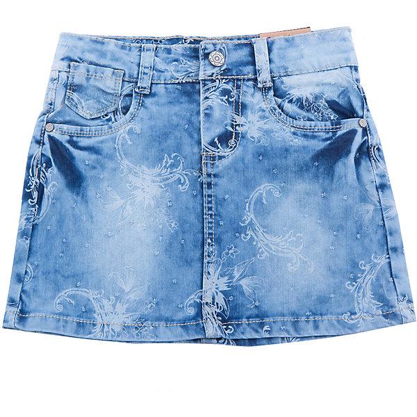 Юбка джинсовая для девочки Sweet BerryДжинсовая одежда<br>Стильная джинсовая юбка с цветочным принтом. Декорирована оригинальными потертостями. Пояс с регулировкой внутренней резинкой.<br>Состав:<br>98%хлопок 2%эластан<br>Ширина мм: 207; Глубина мм: 10; Высота мм: 189; Вес г: 183; Цвет: синий; Возраст от месяцев: 24; Возраст до месяцев: 36; Пол: Женский; Возраст: Детский; Размер: 98,104,128,122,116,110; SKU: 5412411;