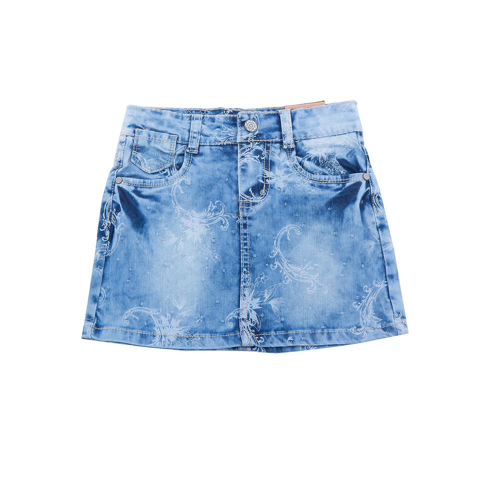 Юбка для девочки Sweet BerryСтильная джинсовая юбка с цветочным принтом. Декорирована оригинальными потертостями. Пояс с регулировкой внутренней резинкой.<br>Состав:<br>98%хлопок 2%эластан<br><br>Ширина мм: 207<br>Глубина мм: 10<br>Высота мм: 189<br>Вес г: 183<br>Цвет: синий<br>Возраст от месяцев: 36<br>Возраст до месяцев: 48<br>Пол: Женский<br>Возраст: Детский<br>Размер: 110,116,122,128,104,98<br>SKU: 5412411