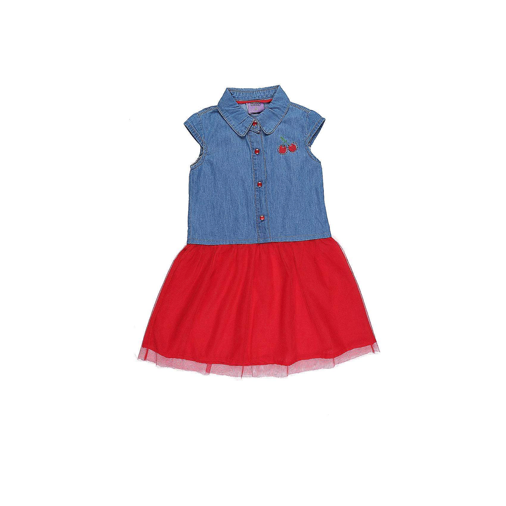 Туника для девочки Sweet BerryПлатья и сарафаны<br>Платье-туника из тонкой хлопковой ткани под джинсу декорированное яркой вышивкой и воланом из яркой тафты.<br>Состав:<br>100%хлопок<br><br>Ширина мм: 236<br>Глубина мм: 16<br>Высота мм: 184<br>Вес г: 177<br>Цвет: разноцветный<br>Возраст от месяцев: 36<br>Возраст до месяцев: 48<br>Пол: Женский<br>Возраст: Детский<br>Размер: 104,98,110,116,122,128<br>SKU: 5412425